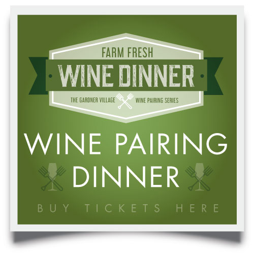 buy tickets for farm fresh wine pairing dinner  here